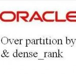Oracle over partition by et dense rank