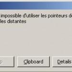 erreur Oracle ORA-22992