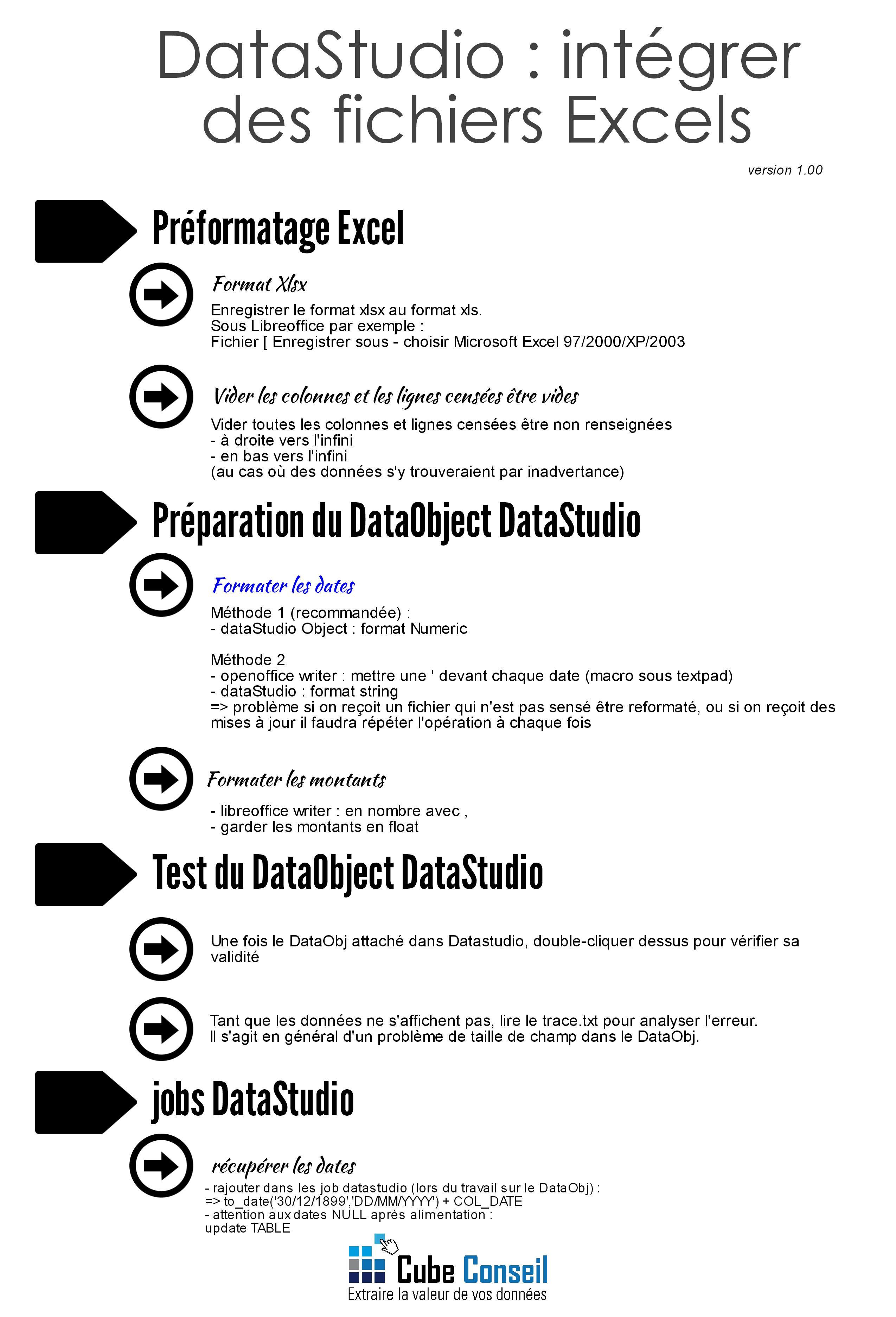 DataStudio - intégrer des fichiers Excels