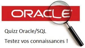 Quizz Oracle SQL